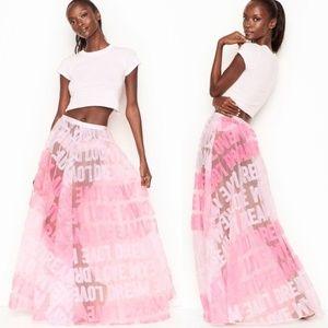 VS Dream Angels Appliqué Tulle Maxi Skirt